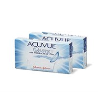 מארז 2 חבילות עדשות מגע Acuvue Oasys דו שבועיות ל3 חודשים + מתנה