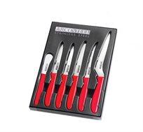 סט סכינים מבית ARCOSTEEL הכולל 6 סכינים מקצועיות למגוון שימושים במטבח