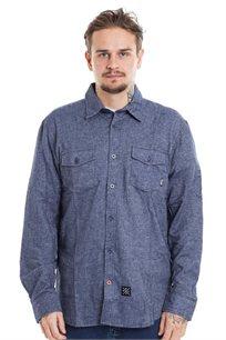 חולצת פלאנל SUPPLY - כחול
