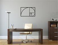 שלט מעוצב לתלייה בחיתוך לייזר דגם פיבונאצ'י