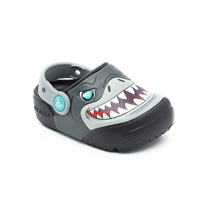 Crocs Fun Lab Lights Clog K - כפכף קרוקס עם אורות לילדים בהדפס כריש