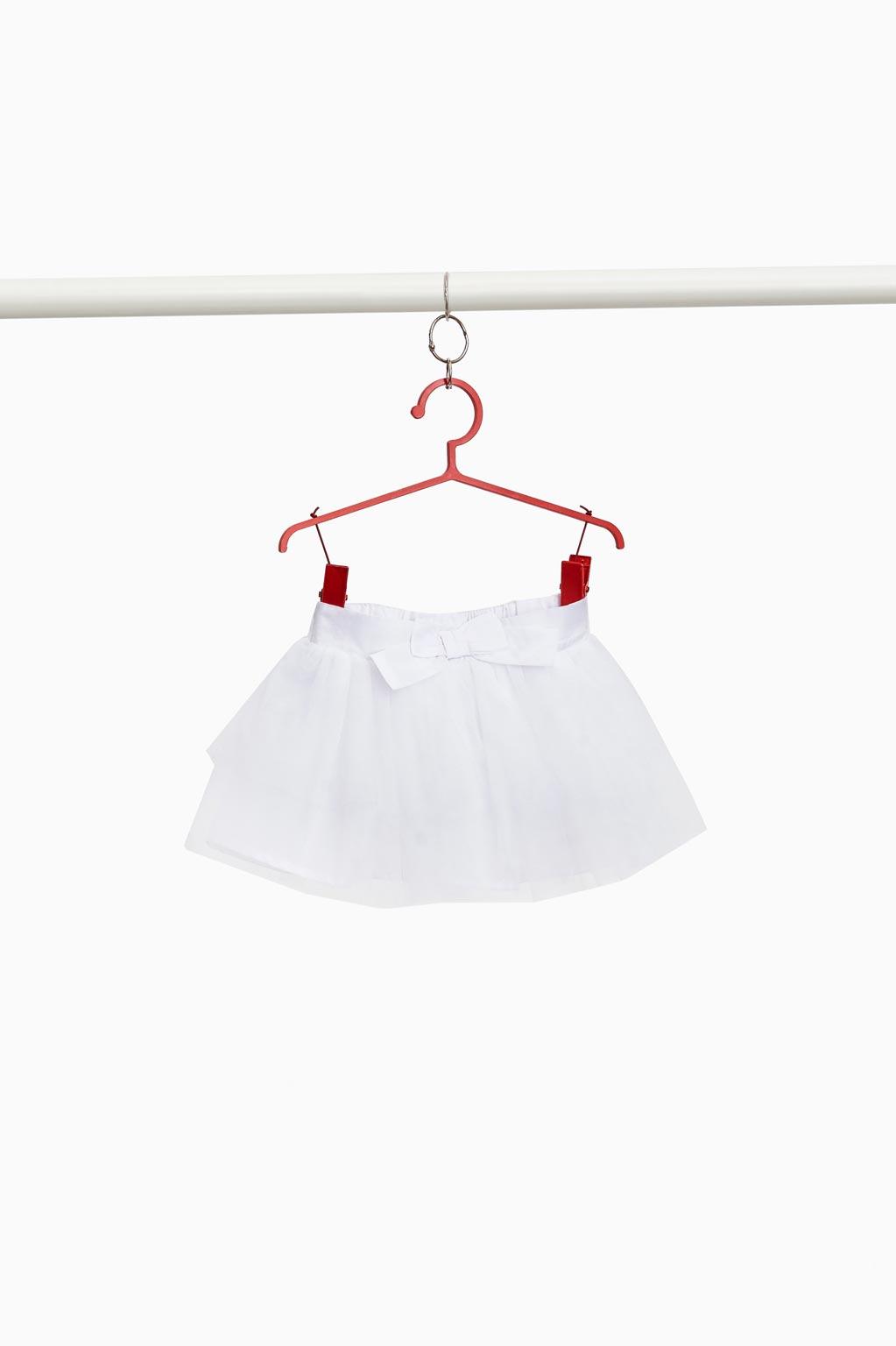 חצאית טול OVS עם פפיון - צבע לבן