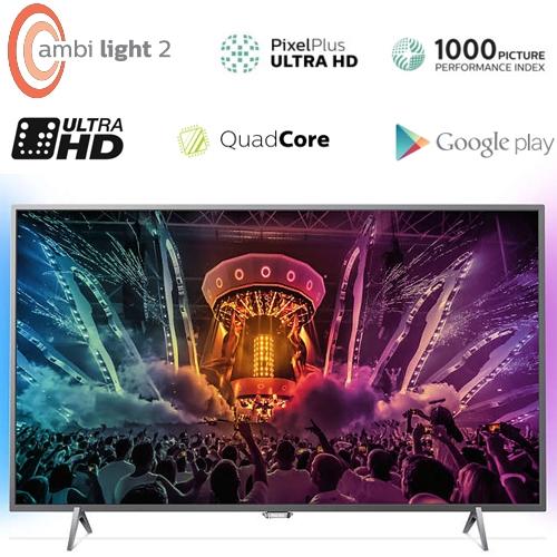 טלוויזיה ''49 LED 4K SMART ANDROID דגם 1000PPI  Wifi אמבילייט 2 דגם 49PUS6401 מבית Philips - משלוח חינם! - תמונה 2