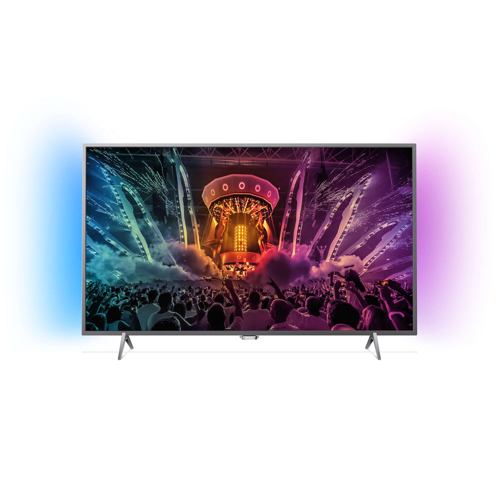 טלוויזיה ''49 LED 4K ANDROID Philips דגם 49PUS6401