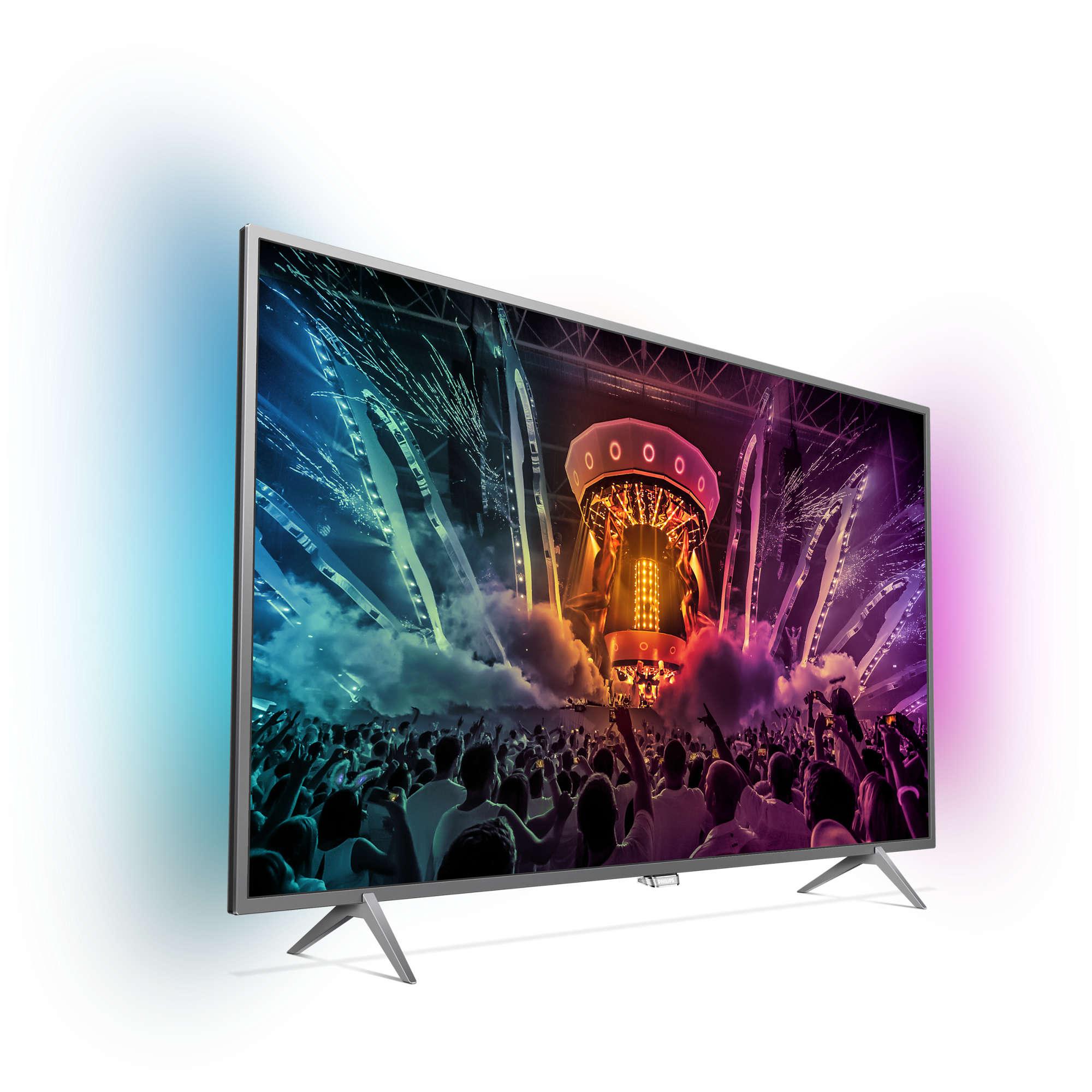 טלוויזיה ''49 LED 4K SMART ANDROID דגם 1000PPI  Wifi אמבילייט 2 דגם 49PUS6401 מבית Philips - תמונה 3
