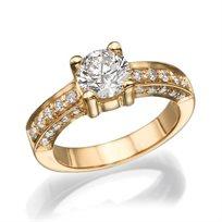 """טבעת יהלומים מזהב צהוב """"מרסי"""" 1.51 קראט"""