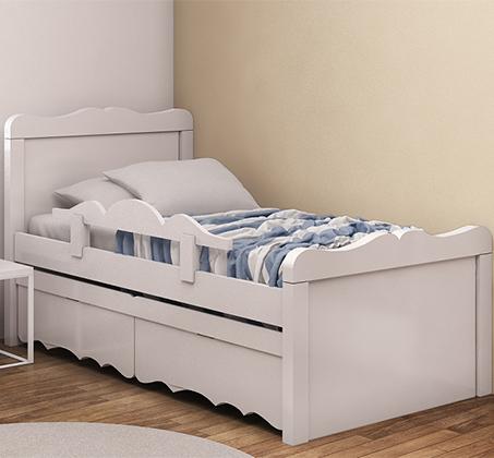 אדיר מיטה לילדים עשויה עץ מלא כולל מיטת חבר תחתונה עם מעקה בטיחות וזוג VC-65