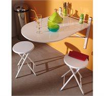 שולחן אוכל מתקפל + 2 כיסאות בגימור איכותי תוצרת צרפת HOME DECOR דגם קולג'