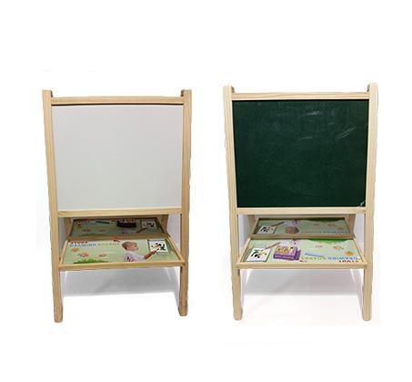 להפליא לוח ציור עומד דו צדדי לילדים הכולל לוח מחיק לטושים ולוח לגירים AZ-04