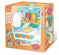 מטבח הפלא לילדים הכולל מגוון אביזרים בצבעים לבחירה