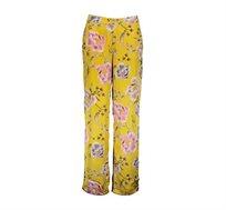 מכנסיים פרחוניים לנשים Punt Roma בצבע צהוב