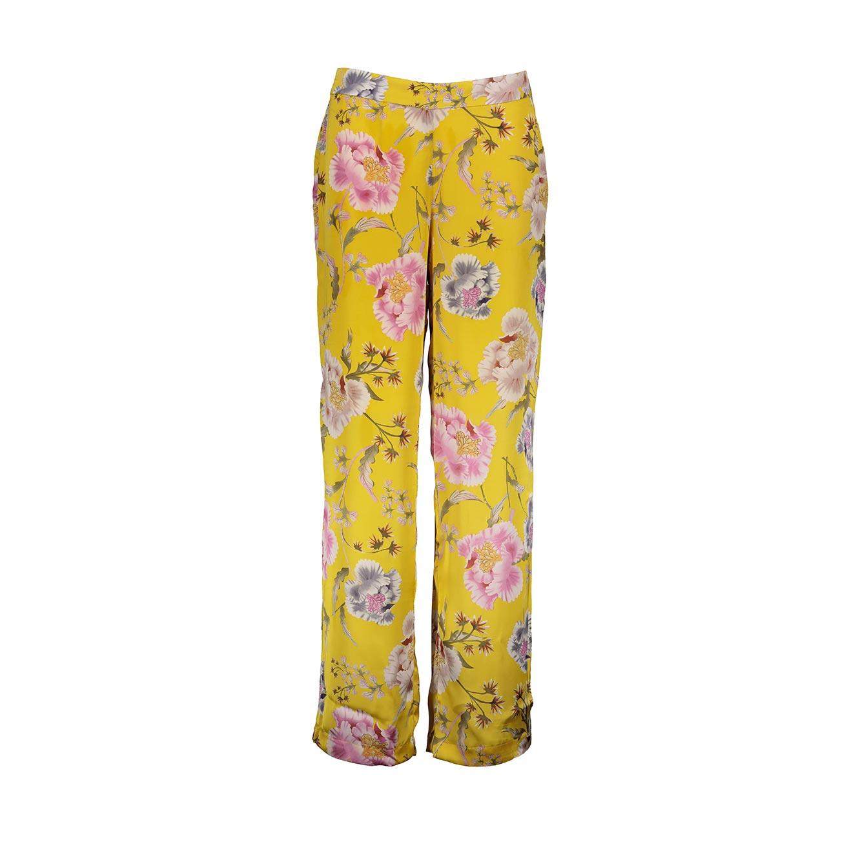 מכנסיים פרחוניים לנשים Punt Roma - צהוב