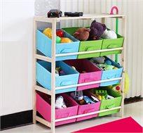 שידת אחסון לחדר הילדים עם 9 תאי אחסון מבד HomeTown