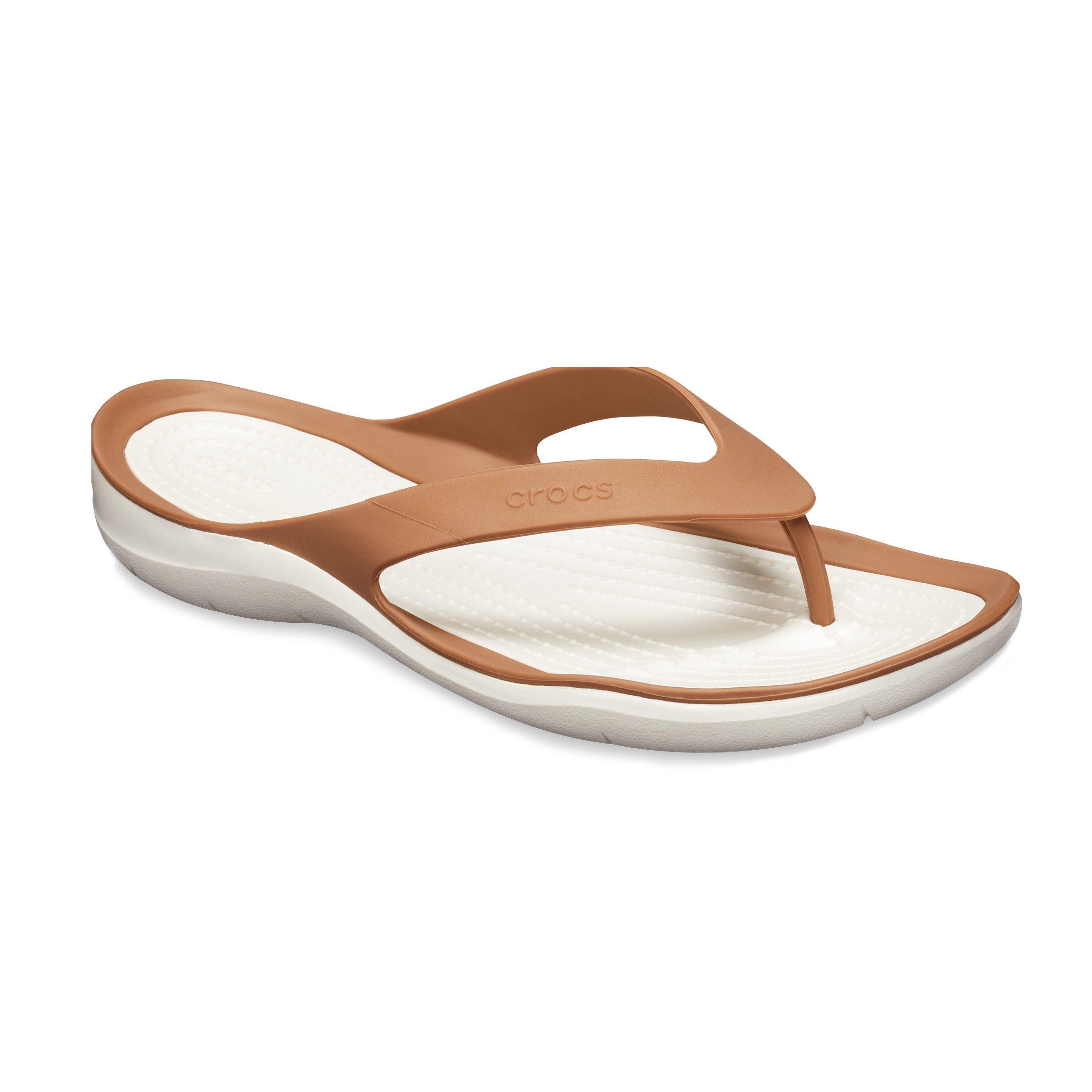 Crocs Swiftwater Flip - נעלי אצבע קרוקס לנשים בצבע ברונזה