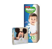 מארז 4 חבילות Huggies Freedom Dry ושמיכת דיסני