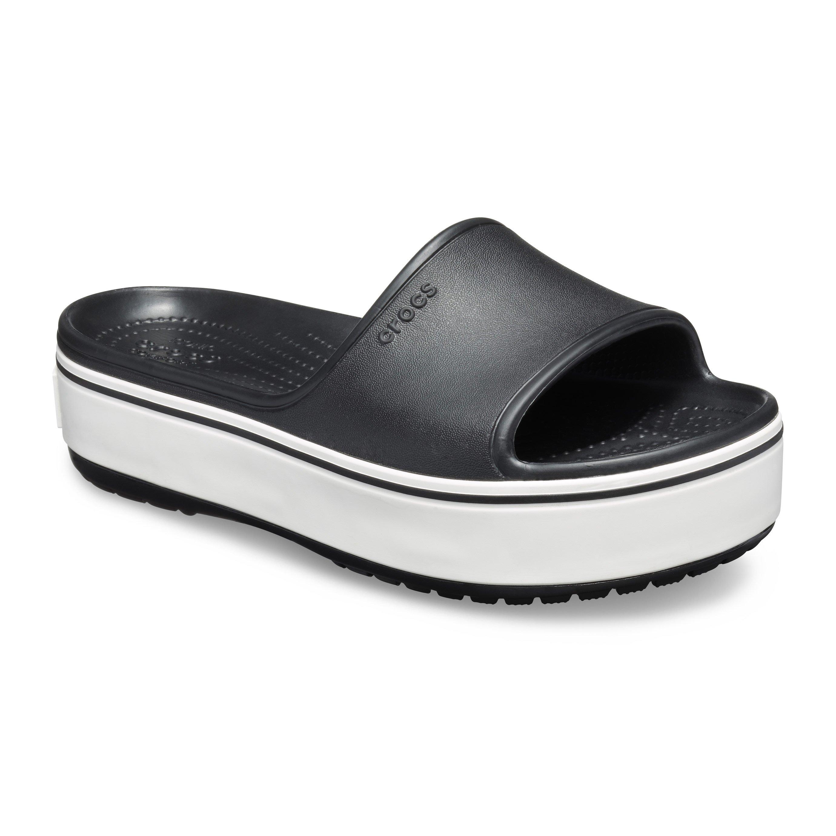 Crocs Crocband Platform Slide - כפכפי סלייד עם פלטפורמה בצבע שחור