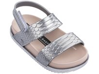 Melissa ילדים // Cosmic Sandal Baja East Metallic Silver