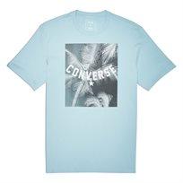 Converse גברים// חולצה תמונה עצי דקל תכלת
