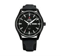 שעון יד שוויצרי לגבר Swiss Military עשוי פלדת אל חלד מושחרת ועמיד במים עד 100M