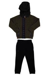 KAPPA ילדים// חליפת קפוצון בנדה ירוק שחור