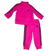 adidas חליפה (3 - 24 חודשים) - ורוד פס שחור
