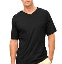 מארז רביעית חולצות טי 100% כותנה מבית FRUIT OF THE LOOM עם מפתח צווארון V ומתאימות לגברים ונשים כאחד