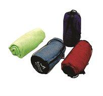 """מגבת 70/140 ס""""מ כולל מארז רשת במגוון צבעים CAMPTOWN"""