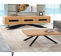 מערכת ריהוט לסלון הכוללת מזנון ושולחן