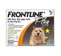"""טיפות להדברת פרעושים Frontline לכלב במשקל של עד כ-10 ק""""ג"""