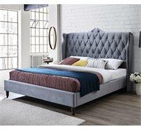 מיטה זוגית מרופדת בד קטיפה דגם KLARIS