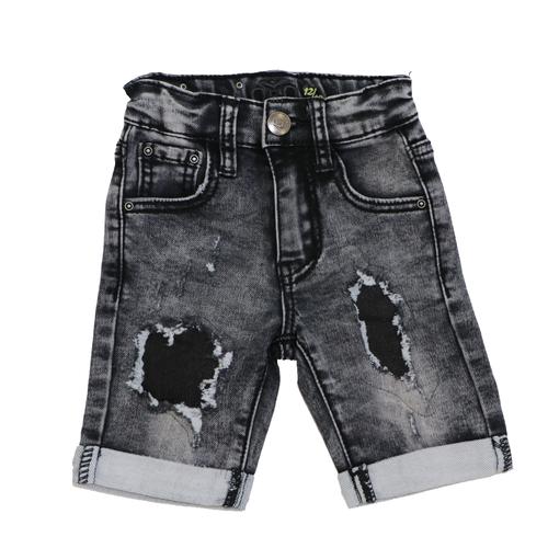 Oro ג'ינס(12 חודשים -16 שנים) - ברמודה פאטצ' שחור בהיר