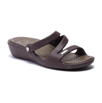 Crocs Patricia - כפכף נשים חום עם עקב מוגבה