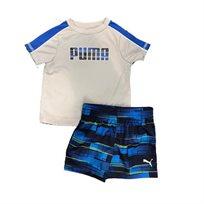 PUMA /חליפה (9-0 חודשים)- כחול אפור