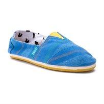 Paez Troya - נעלי בד כחולות בשילוב פסים