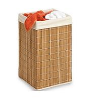 סל כביסה מרובע עשוי במבוק