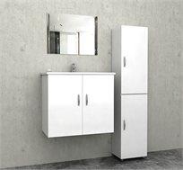סט ארונות אמבטיה הכולל מראה וארוניות אחסון