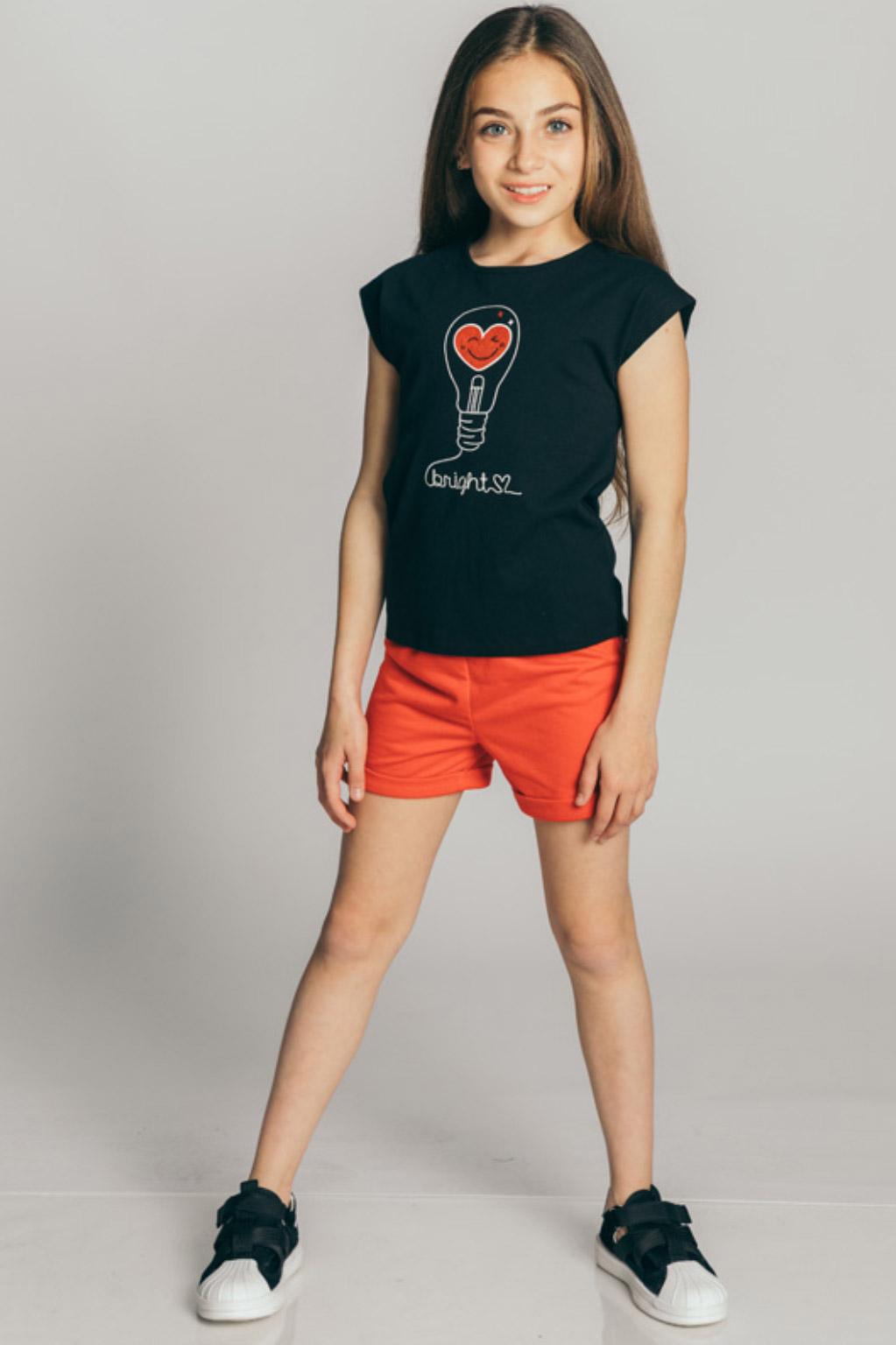חולצת טריקו קצרה Kiwi לילדות - צבע לבחירה