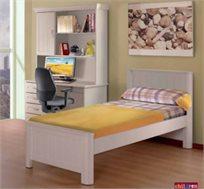 מיטת יחיד מעץ לחדרי ילדים ונוער דגם צח