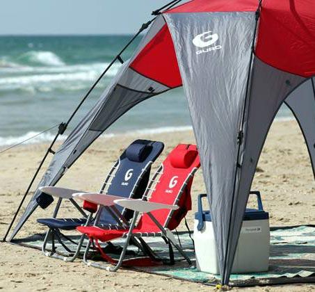 כיסא חוף מתקפל GURO עם מסגרת פלדה - משלוח חינם - תמונה 3