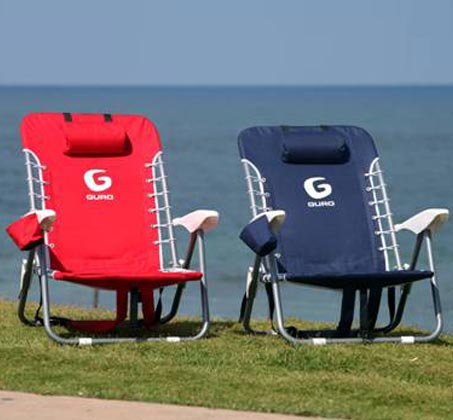 כיסא חוף מתקפל GURO עם מסגרת פלדה - משלוח חינם - תמונה 2
