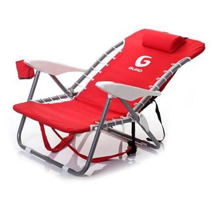 כיסא חוף מתקפל GURO עם מסגרת פלדה