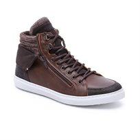 Seventy Nine- נעלי סניקרס גבוהות לגברים בצבע חום