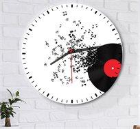 שעון עץ מודרני לבית דגם music תקליט עם תווים