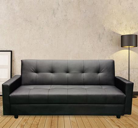 ספת אירוח מעוצבת תלת מושבית הנפתחת למיטה