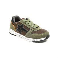 Magma Boys Star Sneak - נעלי סניקרס בעיטור כוכב לילדים בצבע חאקי