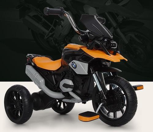 תלת אופן BMW R1200 GS עם גלגלי EVA ופדלים - כתום - משלוח חינם - תמונה 5