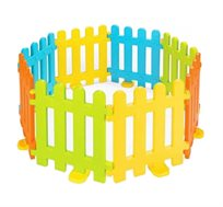 גדר פלסטיק איכותית לילדים – לגן, למעון, לבית ולגינה, בעלת 8 חלקים