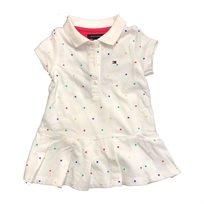 Tommy Hilfiger שמלה (4-2 שנים) לבן נקודות