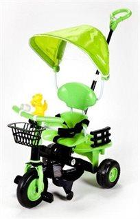 תלת אופן צבעוני עם גגון ירוק
