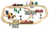 סט רכבות עם תחנת טעינה וקטר חשמלי 75 חלקים